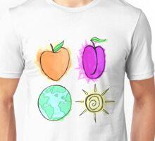 Peach, Plum, Earth, Sun Unisex T-Shirt