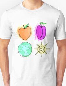 Peach, Plum, Earth, Sun T-Shirt