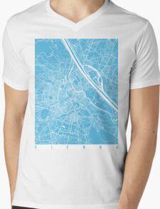 Vienna map blue Mens V-Neck T-Shirt