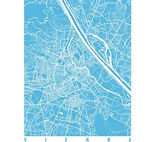 Vienna map blue Photographic Print