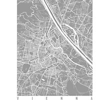 Vienna map grey Photographic Print