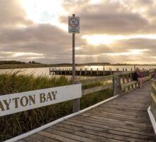 Sunset at Clayton Bay Sticker