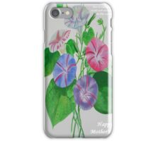 Happy Mothers Day Loving Nature And Delicate Words iPhone Case/Skin