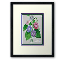 Happy Mothers Day Loving Nature And Delicate Words Framed Print