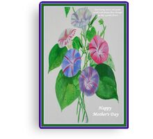 Happy Mothers Day Loving Nature And Delicate Words Canvas Print