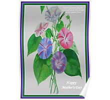 Happy Mothers Day Loving Nature And Delicate Words Poster