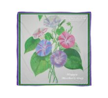 Happy Mothers Day Loving Nature And Delicate Words Scarf
