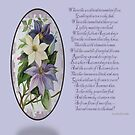 Clematis Greeting  With Poem by taiche