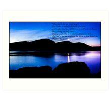 Bible Verse Matthew 6:9-13 Art Print