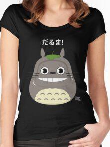 Totoro Daruma Women's Fitted Scoop T-Shirt