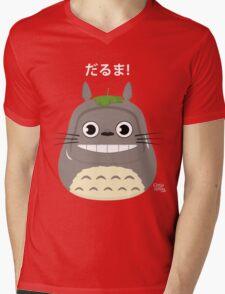 Totoro Daruma Mens V-Neck T-Shirt