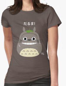 Totoro Daruma Womens Fitted T-Shirt