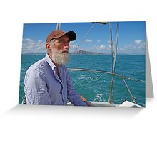 Richard Sailing on Cleveland Bay Townsville Greeting Card