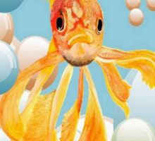 Thank You, You're Golden Vermillion Goldfish Humor Sticker