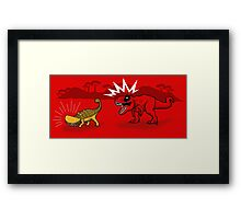 The Plight of the Tacosaurus Framed Print