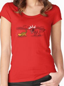 The Plight of the Tacosaurus Women's Fitted Scoop T-Shirt