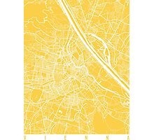 Vienna map yellow Photographic Print