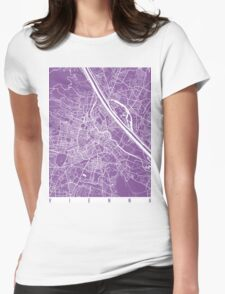 Vienna map lilac Womens Fitted T-Shirt