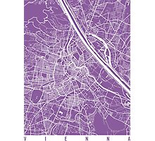 Vienna map lilac Photographic Print