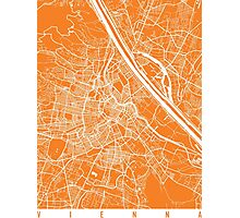 Vienna map orange Photographic Print