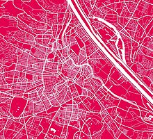 Vienna map raspberry by mapsart