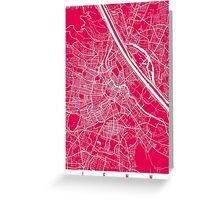 Vienna map raspberry Greeting Card