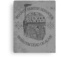 Hunter services. Canvas Print