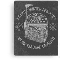 Hunter services. (Alternate) Canvas Print