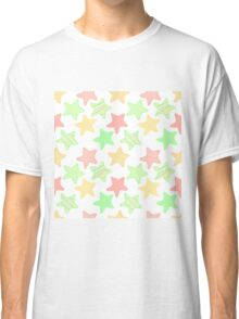 Doodle colorful stars pattern. Classic T-Shirt