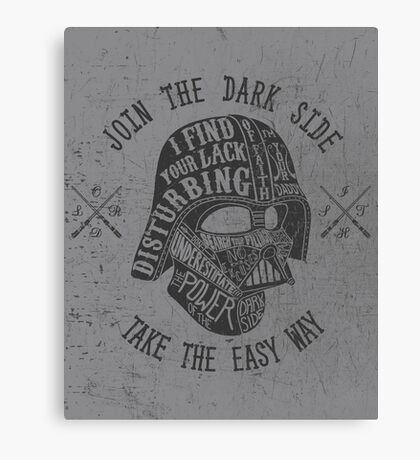 The easy way. Canvas Print