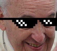 Pope Francis Thug Life Sticker