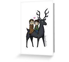 Nightmare Stag Greeting Card