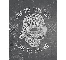 The easy way. (Alternate) Photographic Print
