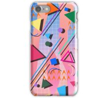 80s pop retro pattern 2 iPhone Case/Skin