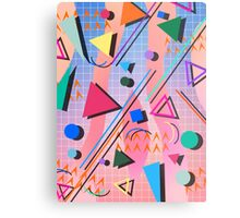 80s pop retro pattern 2 Metal Print