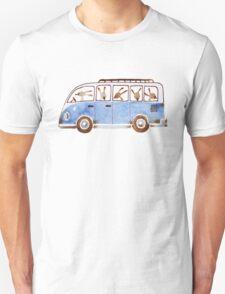 Bunny in Vintage Volkswagen Unisex T-Shirt
