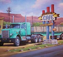 Ranch House truckstop. by Mike Jeffries
