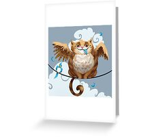The Hungry Kitty Cat Greeting Card