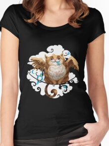The Hungry Kitty Cat Women's Fitted Scoop T-Shirt