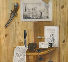 Attributed to Benedetto Sartori A PAIR OF TROMPE L'OEIL STILL LIFES by Adam Asar