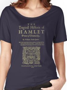 Shakespeare, Hamlet. Dark clothes version. Women's Relaxed Fit T-Shirt