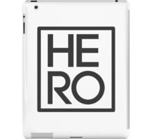 HERO BLACK AND WHITE SQUARE iPad Case/Skin