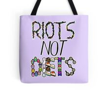 Riots Not Diets Feminist Slogan Tote Bag