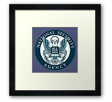 national security agency ( parody ) Framed Print