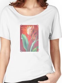 Mother's Day Greetings Red and Yellow Tulips Women's Relaxed Fit T-Shirt