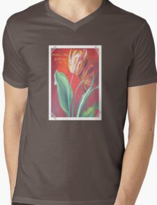 Mother's Day Greetings Red and Yellow Tulips Mens V-Neck T-Shirt