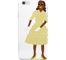 Steam Punk 50s-60s Dot Style Gold iPhone Case/Skin