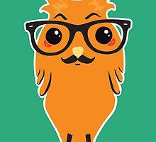 Kawaii Owl Hipster #02 by Silvia Neto