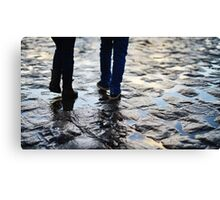 kids feet Canvas Print
