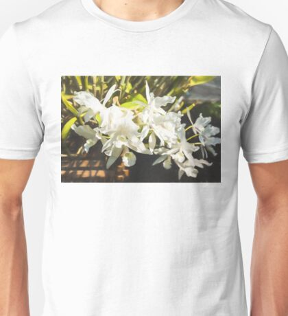 Tropical Impressions - Dreamy White Orchids Unisex T-Shirt